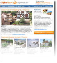 Destination Highlight - France - Holiday Newsletter September 2011