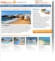 Destination Highlight - Algarve - Holiday Newsletter October 2011