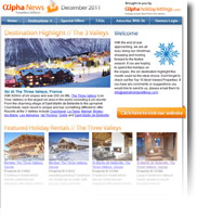 Destination Highlight - The Three Valleys - Holiday Newsletter December 2011