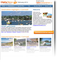 Destination Highlight - Cornwall - Holiday Newsletter February 2012