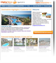 Destination Highlight - Costa del Sol - Holiday Newsletter April 2012