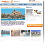 Destination Highlight - Majorca - Holiday Newsletter May 2012