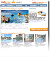 Cyprus | Alpha Holiday Lettings Travellers Newsletter May 2012