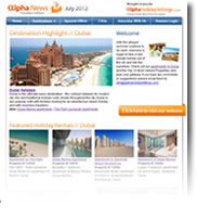 Destination Highlight - Dubai - Holiday Newsletter no.3 July 2012