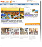 Destination Highlight - Barcelona - Holiday Newsletters no.4 July 2012