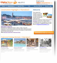 Destination Highlight - Marrakech - Holiday Newsletters no.5 July 2012