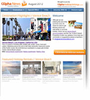 Destination Highlight - Venice Beach, LA - Holiday Newsletters no.3 August 2012