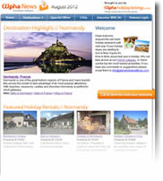 Escape to Normandy, Chamonix, Zakynthos and more - Holiday Newsletter no.4 August 2012