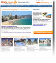 Destinations Benidorm, Cyprus, Kenya & Wales - Holiday Newsletter no.1 September 2012