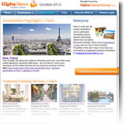 Romantic Paris - Plus Italy, Skiing In Chamonix, Special Offers and more - Holiday Newsletter no.1 October 2012