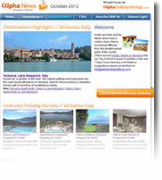 Italian Lakes - Verbania, plus Tel Aviv, London, France, Special Offers and more - Holiday Newsletter no.1 October 2012