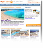 Winter Sun at Tenerife, plus Goa, Andorra, Dubai, Special Offers and more - Holiday Newsletter November 2012