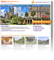 UK May Bank Holiday Break - Cottages in Bath, York, Cornwall - Newsletter No.2 April 2013